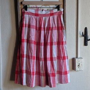 Vintage 50's plaid skirt